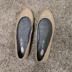 Dr Scholl's nude flats